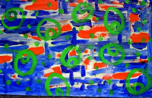 Abstract Orange and Blue